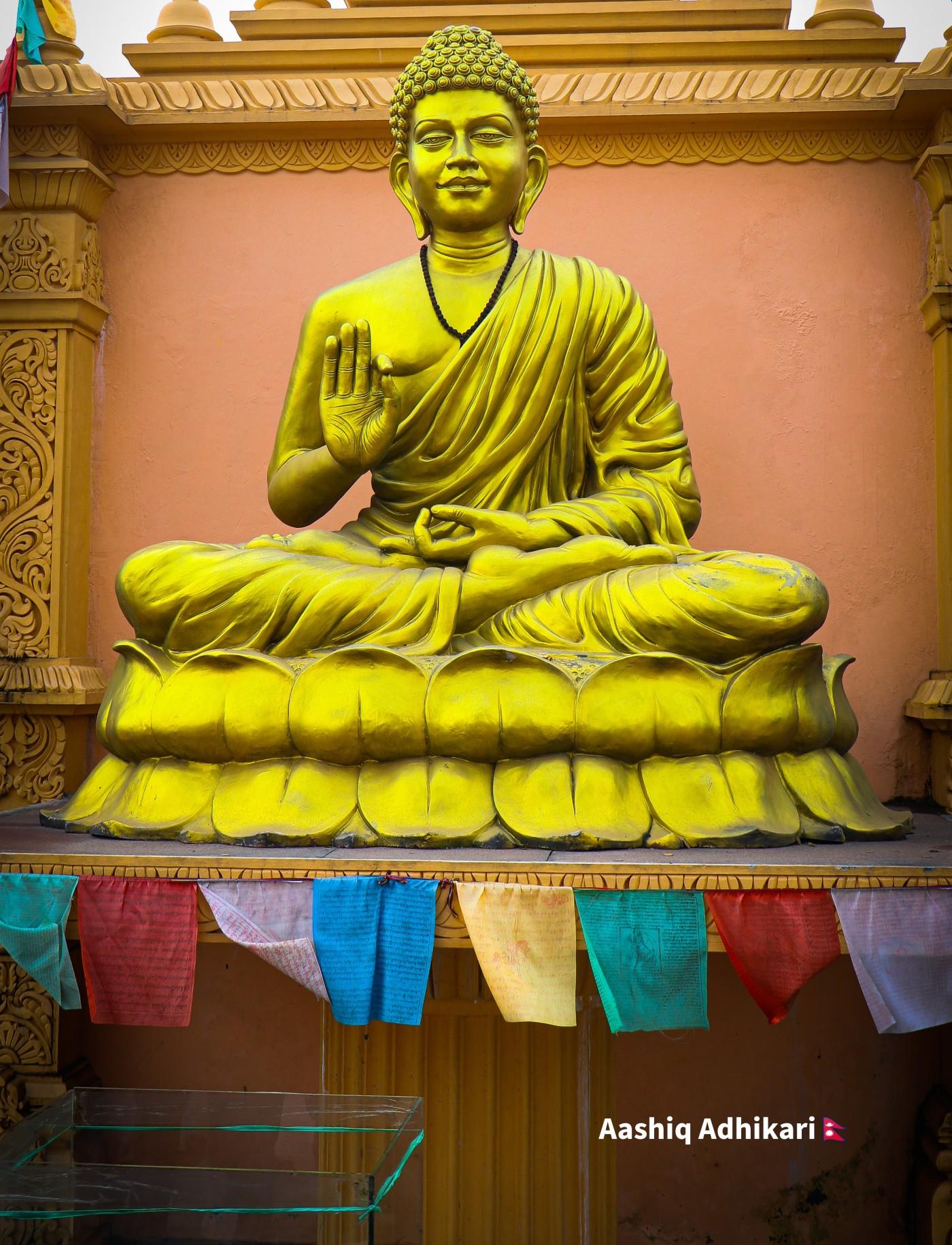 Beautiful Statue of Lord Budhha located in CG, Saswatdham.